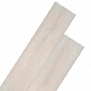 Lamas para suelo de PVC 5,26 m² roble clásico blanco