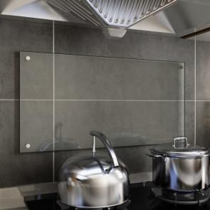 Protector contra salpicaduras cocina vidrio templado 80x40 cm