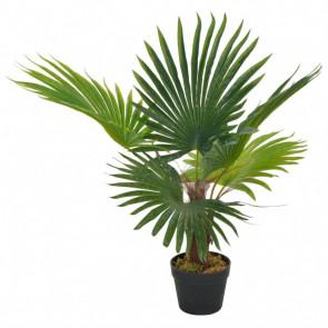 Planta artificial palmera con macetero 70 cm verde