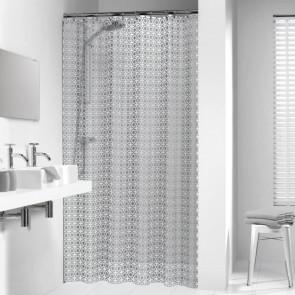 Cortina de ducha modelo Hammam 180cm color plateado 210861318