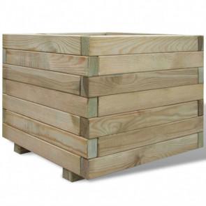 Jardinera cuadrada madera FSC 50x50x40 cm