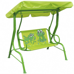 Balancín infantil de acero verde