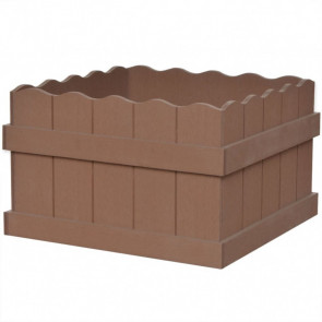 Jardinera WPC 40x40x25 cm marrón