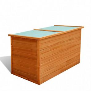 Caja de almacenamiento para jardín madera