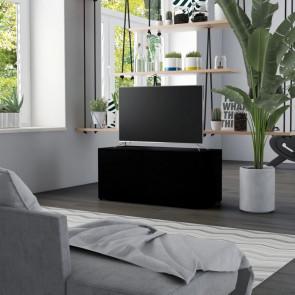 Mueble para TV aglomerado negro 80x34x36 cm