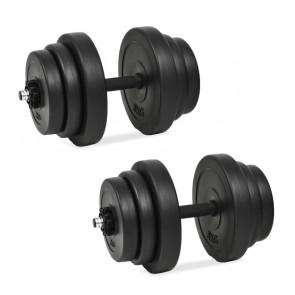 Juego de mancuernas 18 piezas 40 kg