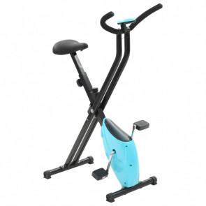 Bicicleta estática X-Bike resistencia de cinta azul
