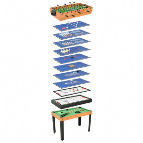 Mesa multijuegos 15 en 1 color arce 121x61x82 cm