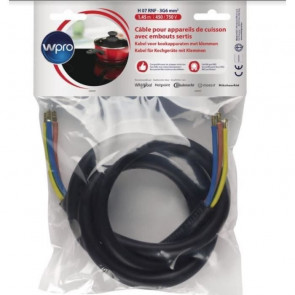 Cable eléctrico sin enchufe CCB360/1 H07 RNF 3G6 1,45 m WPRO