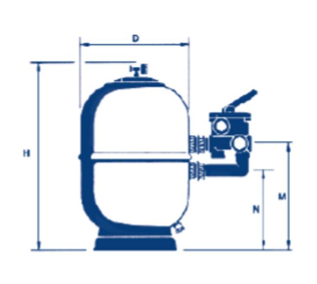 Depuradora de piscina aster v lvula selectora lateral for Tapa filtro depuradora piscina