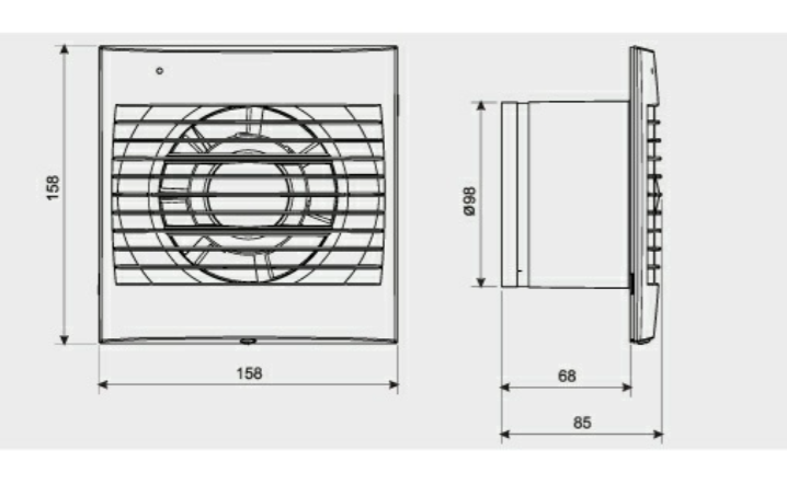 Extractor De Baño S&P:Extractor de baños DECOR-100 S&P