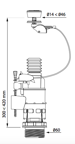 esquema válvula wc doble pulsador MW2PRO wirquin