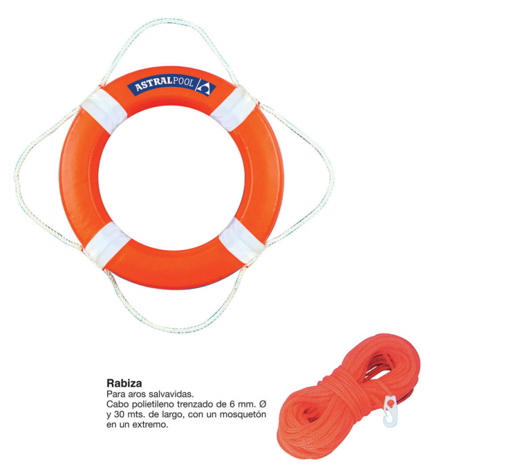 Salvavidas para piscina de pl stico color naranja 730 mm for Salvavidas para piscinas
