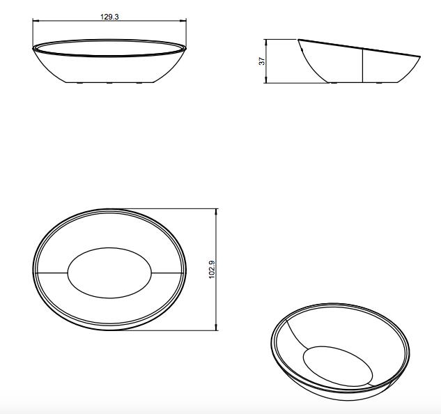 medidas jabonera saku cosmic 13x10,5x3,5 cm