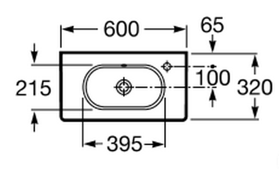 Lavabo Meridian Compacto.Lavabo Roca Meridian Compacto 60