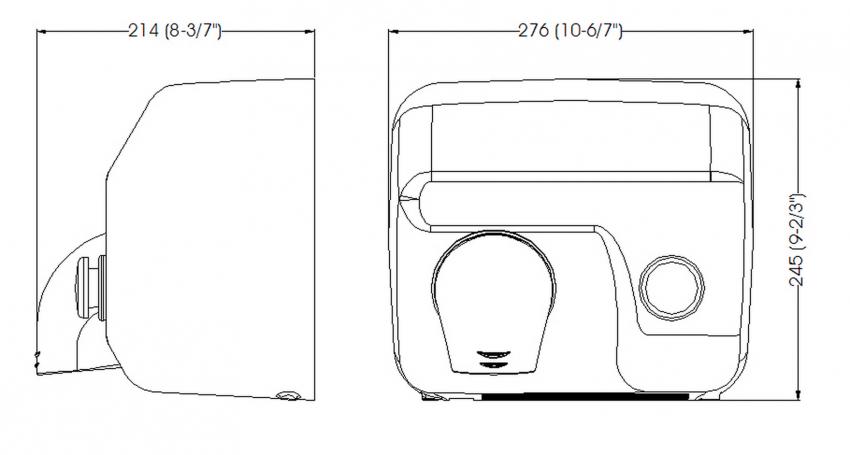 Mediclinics secador de manos manual saniflow e05 2250w blanco - Medidas de lavadoras y secadoras ...