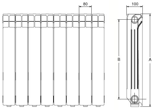 Radiador de aluminio ferroli xian n 600 14 elementos - Radiador ferroli xian ...