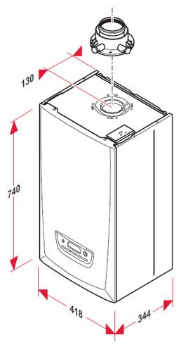 medidas caldera thema condens f 25 de saunier duval