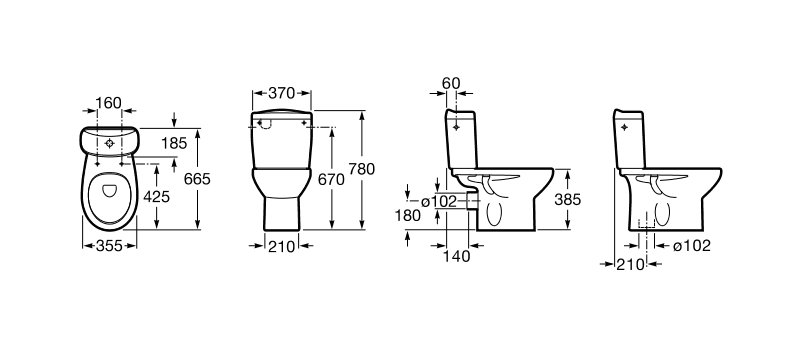 Baños Infantiles Medidas:Roca tanque inodoro completo blanco VICTORIA alimentación inferior