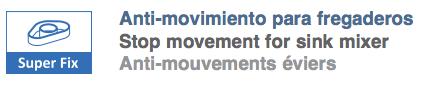 Anti movimiento para grifo fregadera clever tuandco.com